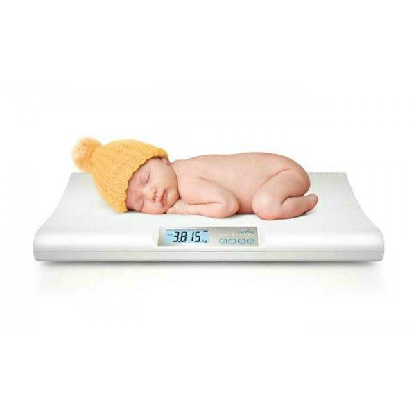 Nuvita Електронен бебешки кантар White Baby Scale 1300